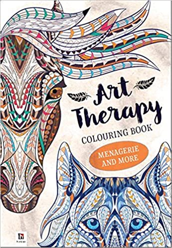 Art Therapy Coloring Book Menagerie More 9781488902864 Amazon Books