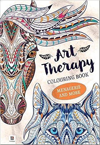 Art Therapy Coloring Book Menagerie More 9781488902864 Amazon Books