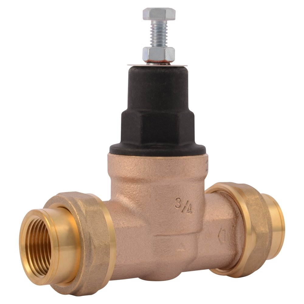 Cash Acme 23885-0045 Pressure Regulator, EB45-DU Double Union Threaded, 3/4''