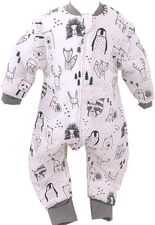 HI SBM Saco de Dormir con Pies para Bebé,Pijama de una Pieza con Patas de algodón de bambú para niños, Baby Infant Boys Girls Quilt-Kick Quilt-Fox_s,Saco de Dormir para bebé con piernas: