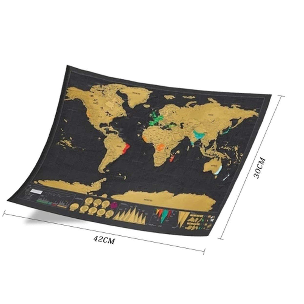 Papier /à gratter Tree-on-Life Version de Carte /à gratter Noire Grande Ceinture Empreinte Voyage Cadeau cr/éatif