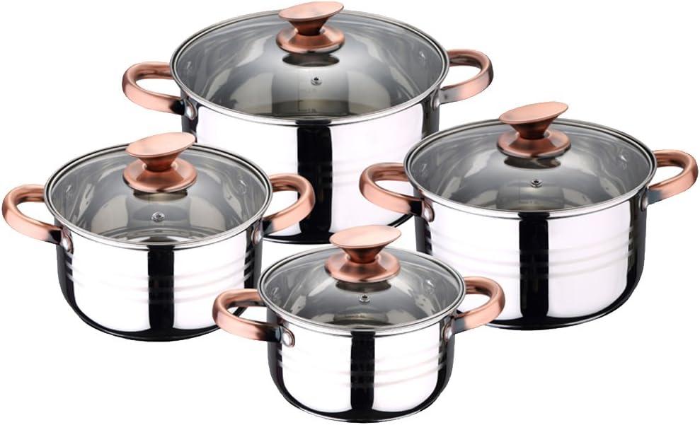 Renberg Selesio Batería de Cocina, Acero Inoxidable, Cromado, 24 cm