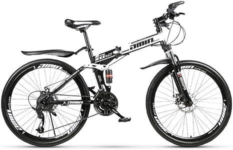 XM&LZ Acero De Alto Carbono Bicicleta Plegable Montaña,Velocidad ...