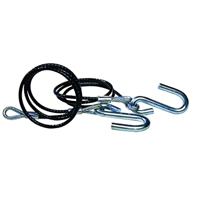 Tie Down 59541 Hitch Cables with Wire Safety Latch Class III - 5,000 lbs, Black Vinyl Jacketed: Automotive