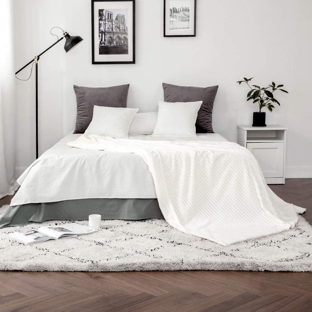 Mink Natural Dreamscene Couverture//Plaid pour lit ou canap/é en nid d/'Abeilles gaufr/é Single fa/çon Vison Doux Polyester 125 x 150cm