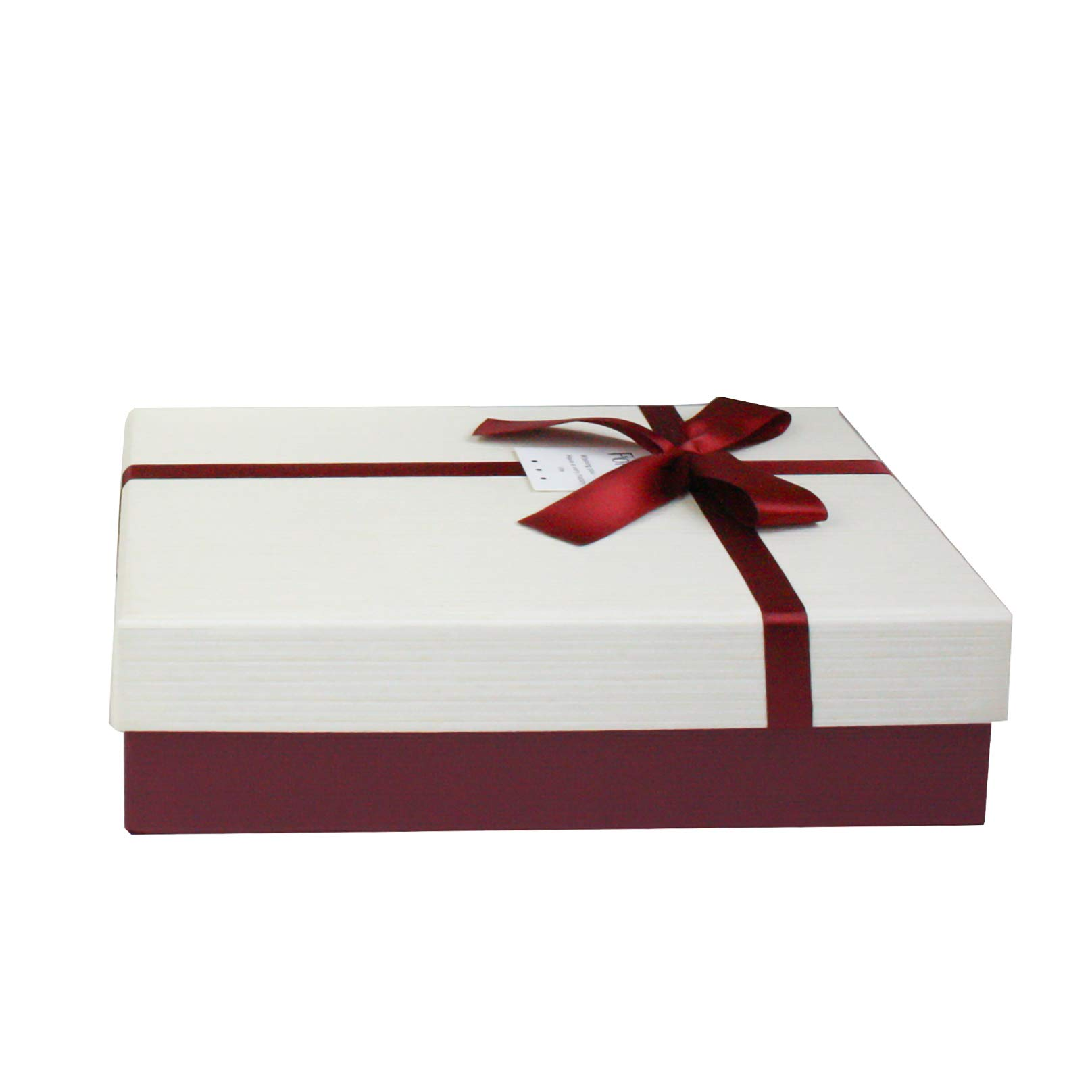 Pack of 12 Rectangle Shaped Gift Box with Clear Lid /& Satin Ribbon