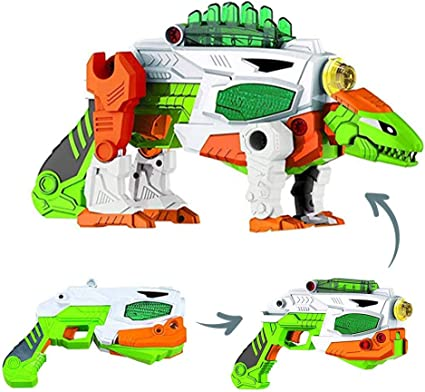 Build Me Take A Part Transforming Rex Dinosaur Construction Toy Gun Power Drill