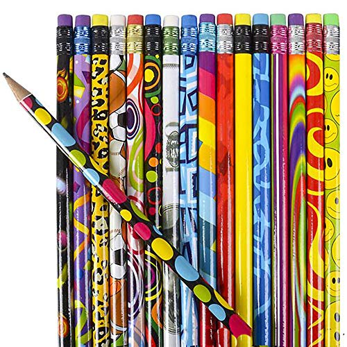 Kicko 7.5 Inch Pencil Assortment - Pack of 250 Assorted Multi-Colored Pens - Arts and Crafts, School Supplies, Stationery Collection, Perfect for Party Bag Favors, Incentives and Novelty Accessory