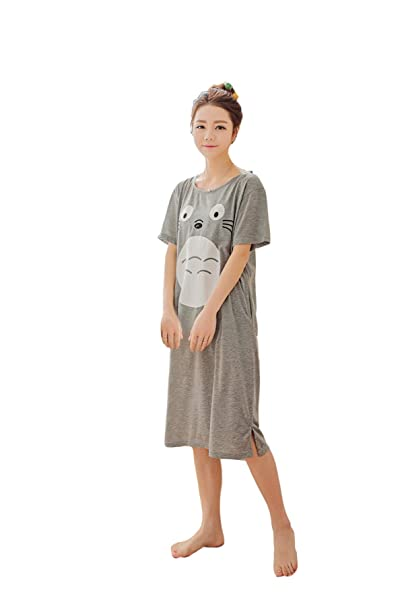 4ef9434ec0ecd Amazon.com  CHAIRAY My Neighbor Totoro Nightgown Cap Sleeve Costume Dress  Pajamas nightskirt  Clothing