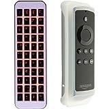 iPazzPort Mini tastiera Bluetooth per Fire TV Stick per tipo QWERTY e ricerca, retroilluminazione a LED, batteria ricaricabile agli ioni di litio (layout UK)