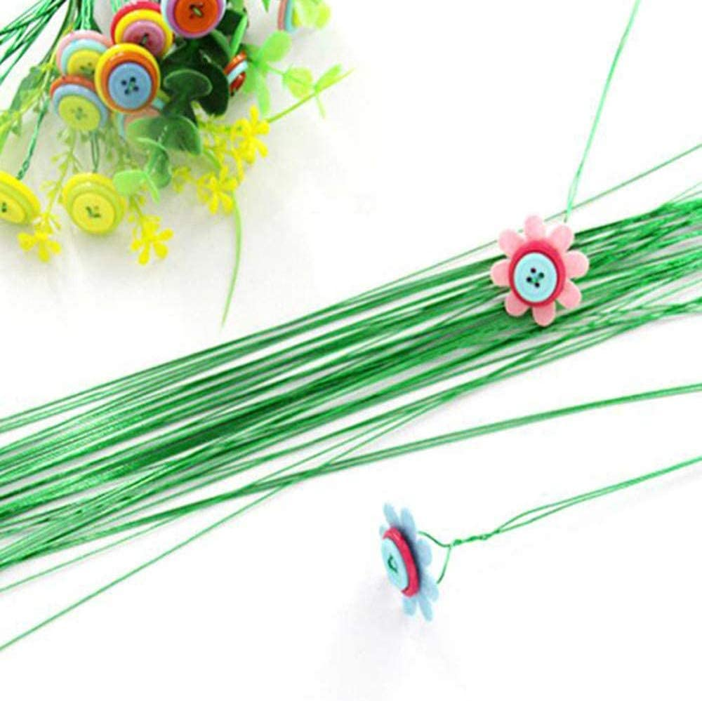 EBLLPA 2-Pack 44 Yards 22 Gauge Green Floral Wire Rubber-Coated Flex Plant Wire Green Flexible Paddle Wire for Crafts Christmas Wreaths Tree Garland and Floral Flower