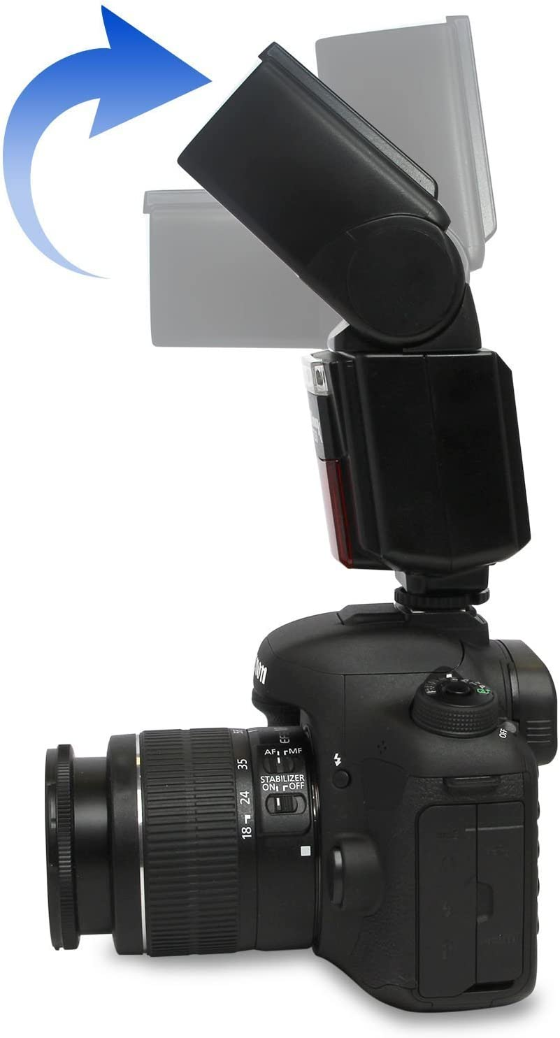Ultimaxx High Power Automatic Flash with LED Video Light for Sony A7 A7S//A7SII A7R//A7RII A7II NEX6 RX1 RX1R RX10 RX100II HX50 A6000 A6300