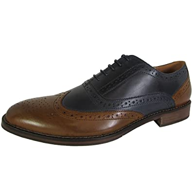 a374eea3734 Steve Madden Mens Brymm Wingtip Two Tone Oxford Shoes