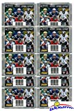 2017 Panini NFL Football Stickers Collection with 10 Factory Sealed Sticker Packs & 70 MINT Stickers! Look for Stickers of NFL Superstars & RC's Including Tom Brady, Dak Prescott, Carson Wentz More!