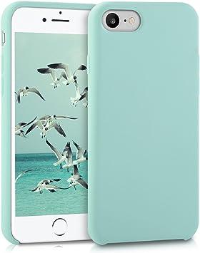 kwmobile Coque Compatible avec Apple iPhone 7/8 / Se (2020) - Coque Étui Silicone - Housse de téléphone Menthe glaciale