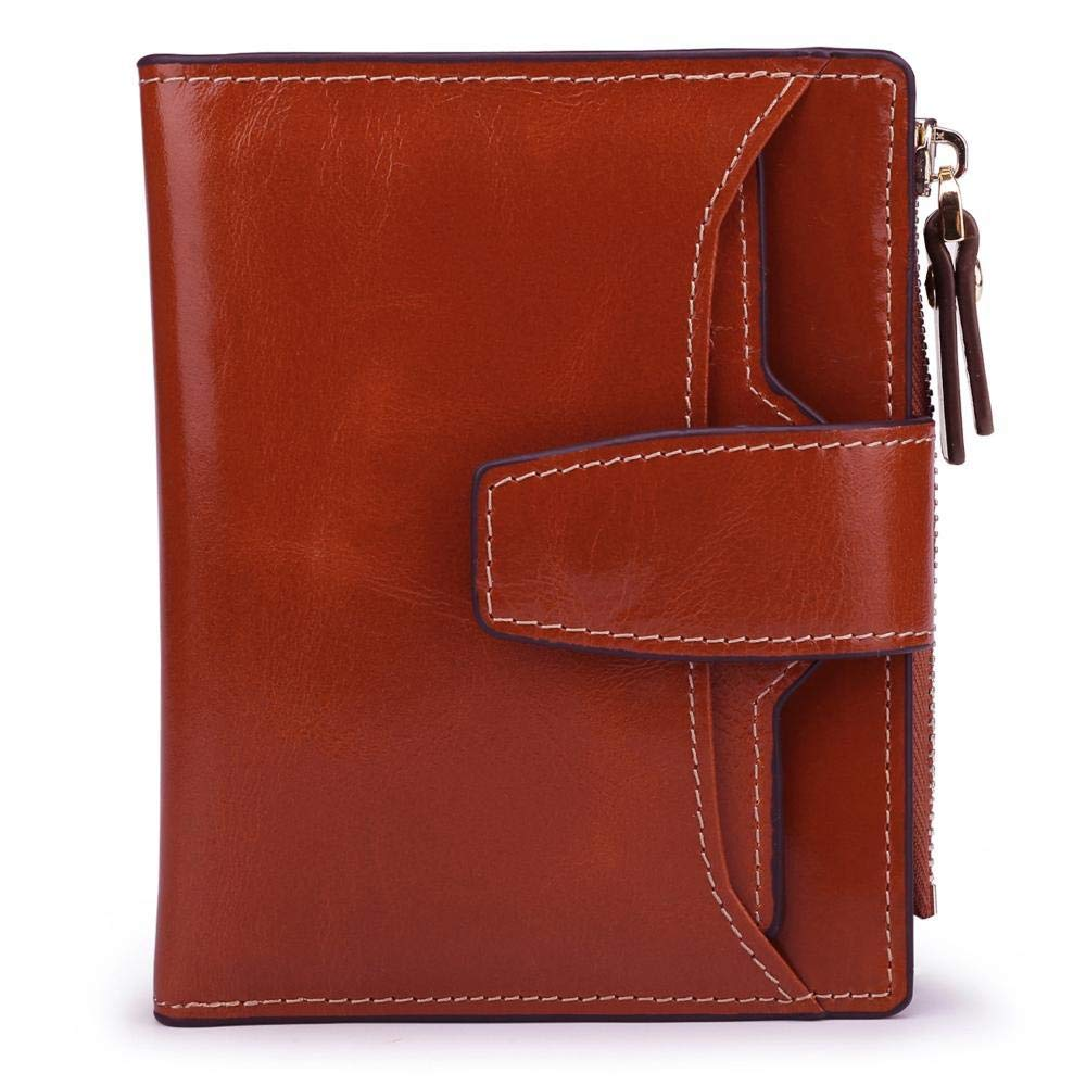 G ZhiGe Women's Wallet,Leather Lady Wallet Short biSection greenical 20 Percent Wallet 12  1.5  10cm