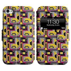 LEOCASE modelo lindo Funda Carcasa Cuero Tapa Case Para Apple iPhone 4 / 4S No.1004828