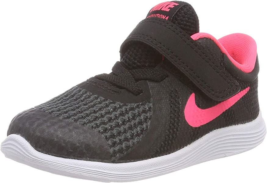 39797c53aa Amazon.com | Nike Girls' Revolution 4 (TDV) Running Shoe, Black ...