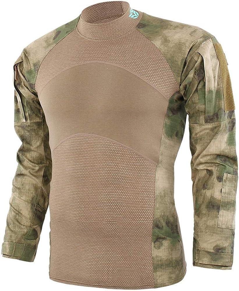 Gran promoción! Hombres tácticas ejército de Manga Larga musculoso básico sólido Blusa Camiseta Top de Internet.: Amazon.es: Ropa y accesorios