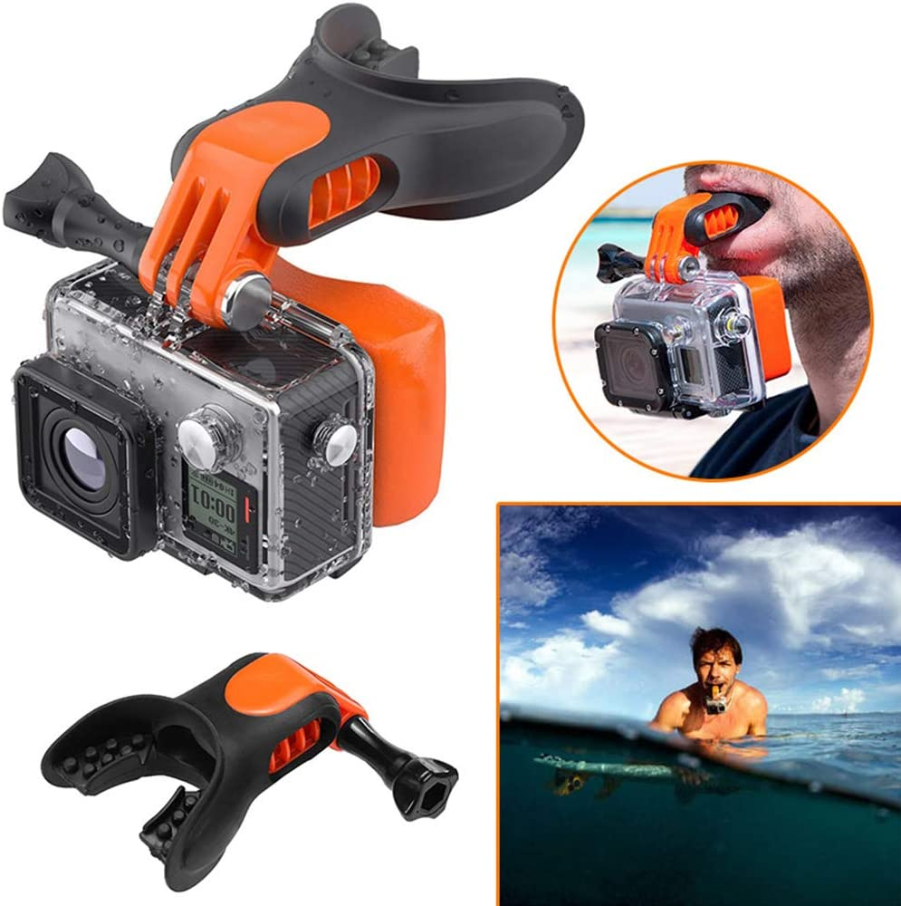 Surf Scuba Mouth Piece for GP Hero 7 6 5 with Detachable Neck Lanyard Mouth Mount Floaty