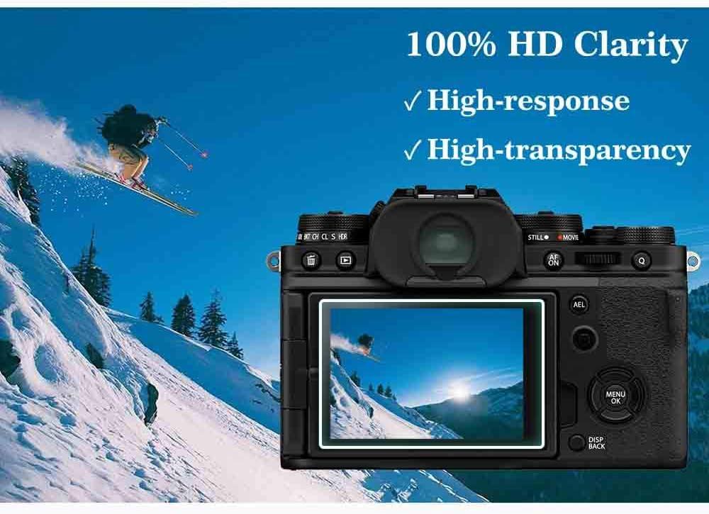 Película protectora de pantalla de vidrio para la protección de la cubierta de pantalla FujiFilm X-T4