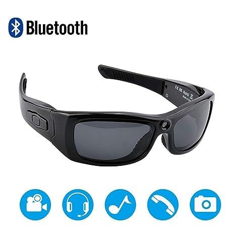 NAMENLOS Bluetooth cámara Gafas de Sol Full HD 1080P cámara ...