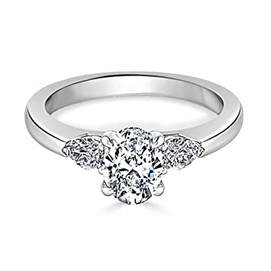 2 50 Ct Oval Diamant Verlobungsring Ring 925 Sterling Silber Diamant