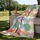Ben and Jonah Candy Colored Dots Throw Blanket