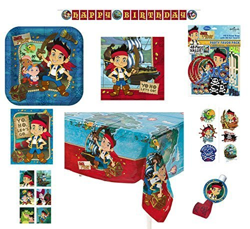 Hallmark 8-Person Birthday Party Combo Pack - Jake the Pirate -
