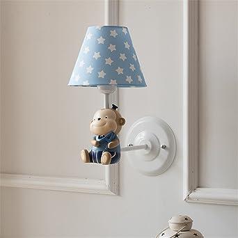 YU K Einfache Vintage Schlafzimmer Wand Lampe Kreative Wohnzimmer Esszimmer  Leuchten Gang Lichter Kleiner Affe