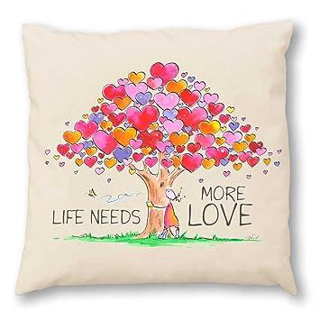Oups Zirbenkissen Cojín 30 x 30 cm Life Needs More Love ...