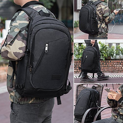 Slim Laptop Backpack Business Computer Bag With Headphone