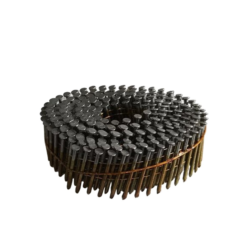 meite CNR114 15 Degree Full Round-Head 1-1/4'' × .083'' Wire Coil Ring Shank Coil Siding Nails 15,000 PCS/Case