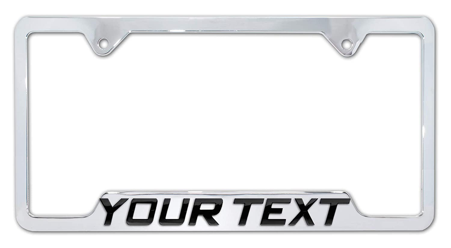Elektroplate Personalized Metal License Plate Frame with 3D Text - Full Version