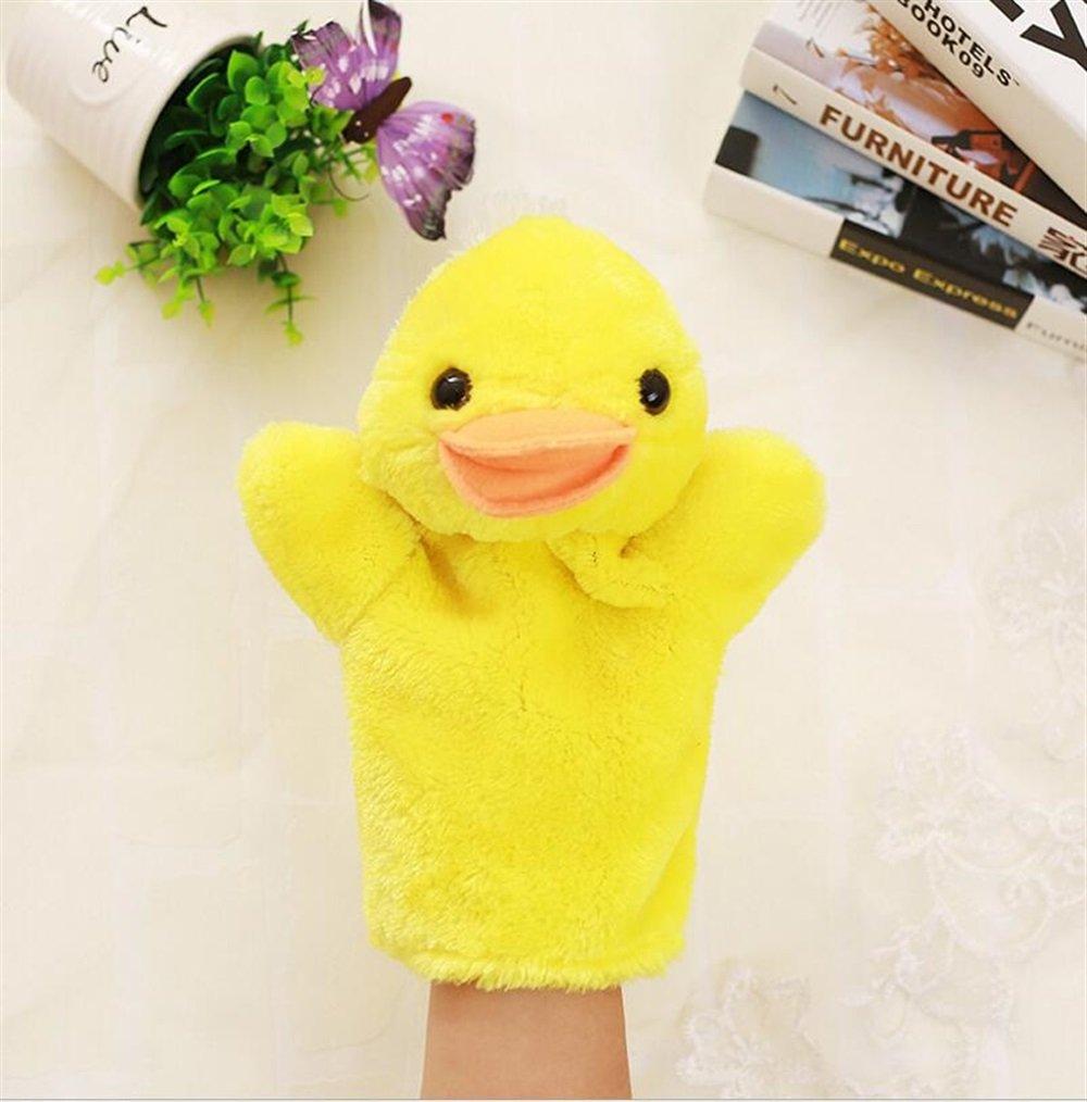 UabpT Super süße Fingerpuppen Handpuppen Enten Kuscheltiere für Kinder Spielen Story Toy (Ente)