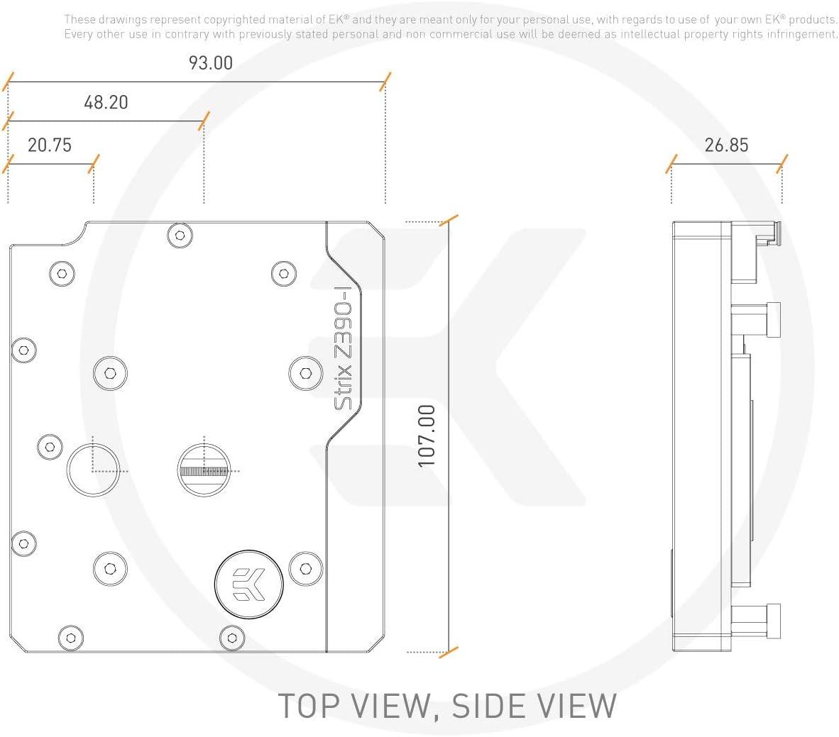 Nickel//Plexi EKWB EK-Momentum ROG Strix Z390I Monoblock Digital RGB