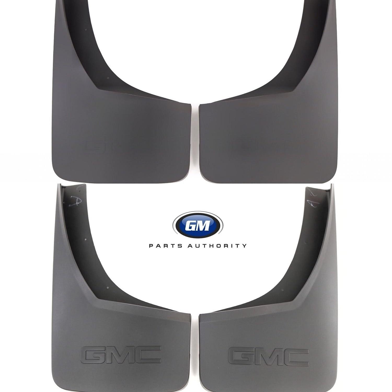General Motors 2015-2018 GMC Sierra Molded Splash Guard Package Front /& Rear Black Grained OEM