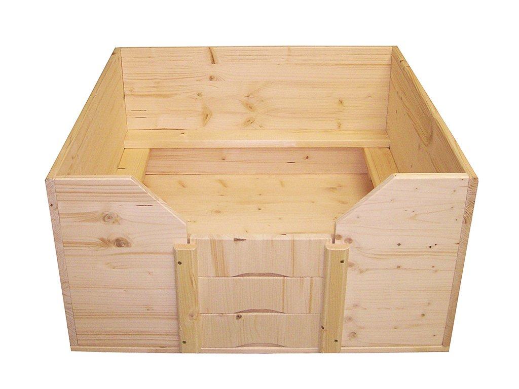 Easy-Hopper Wurfbox / Welpenbox / Schlafplatz Standard 80x80cm mit Welpenschutz