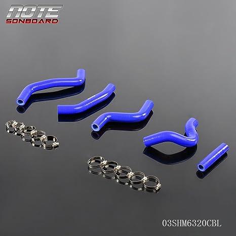 Motorcycle Parts silicone radiator  hose for Suzuki RMZ450 RMZ 450 2007 Auto Parts and Vehicles