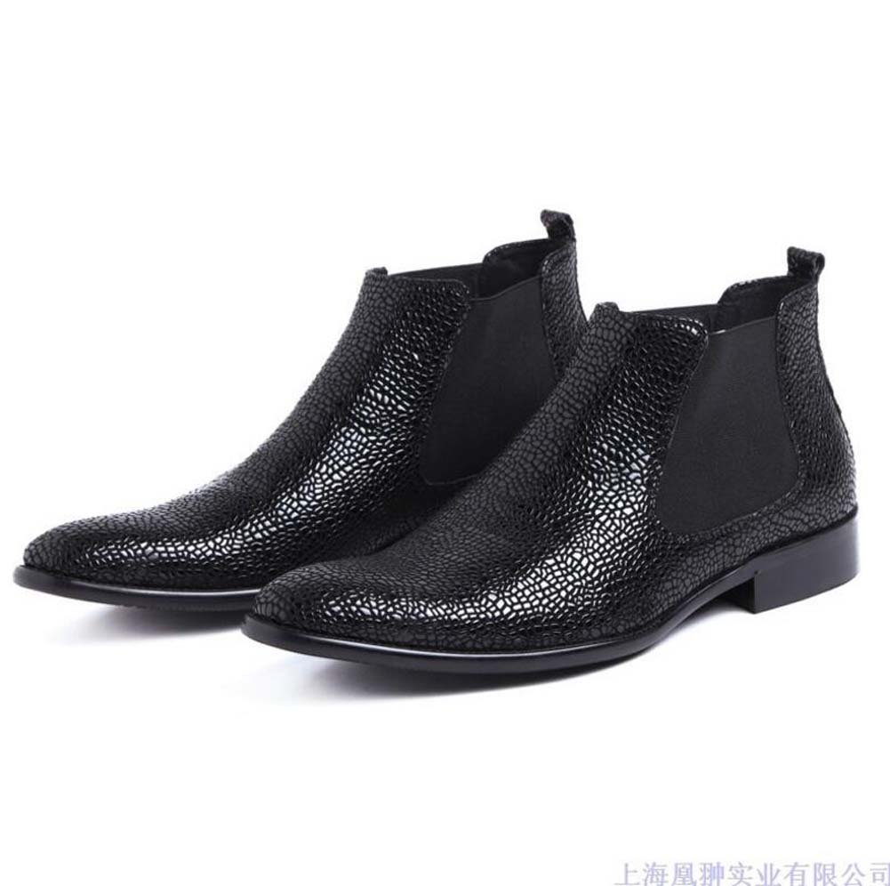 GLSHI Herren Stiefeletten Schuh Pure Single Stiefel Geschäft-Anzug Herren Stiefel Komfortable Atmungsaktive 37 Yards
