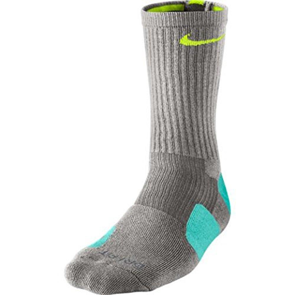 Nike Mens Dri-Fit Cushioned Crew Socks Gray L