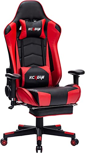 Kcream Gaming Chair Home Office High Back Computer Desk Chair Adults Racing Style Gamer Chair