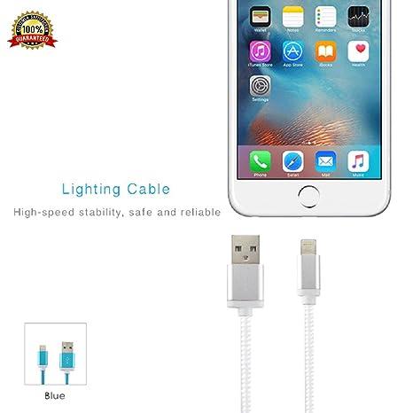 2e2aedd45de Vico Cable USB para iPhone 5 y 6 para ipad, 1,5 m 4,9 pies Red de ...