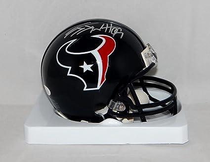 JJ Watt Houston Texans Signed Autograph Full Size Authentic Speed Proline Helmet Watt Hologram JSA Witnessed Certified