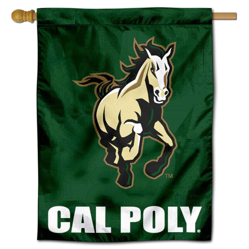 College Flags and Banners Co Cal Poly Mustangs House Flag