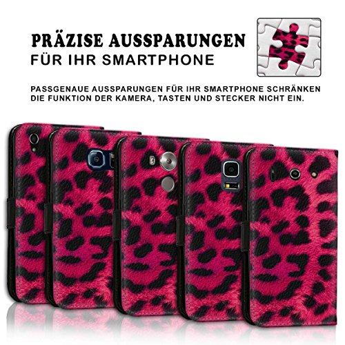 Wallet Book Style Flip Handy Tasche Case Schutz Hülle Schale Motiv Etui für Apple iPhone 4 / 4S - Design Flip MVD396