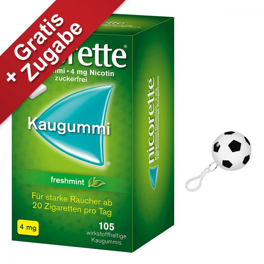 Nicorette 4 mg freshmint Kaugummi, 105 St.: Amazon.de: Drogerie ...