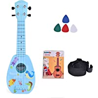 FUN LITTLE TOYS 17 Inch Ukulele for Kids, Musical Instruments for Kids with Strap, Picks and Tutorial, Learning…