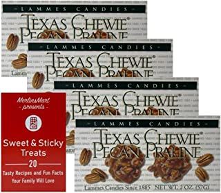 product image for Lammes Candies Gourmet Caramel Pecan Pralines Gift Box | Individually Wrapped Buttery Texas Pralines Caramel Candy Clusters (4 Pack - 2 ounces each) Plus Recipe Booklet Bundle