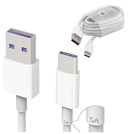 Cable de datos, de Huawei, tipo C Fast (5 A) 3.1 USB, para Huawei P9 / P10 / P10 Plus / Honor 8 / Mate 9 / Mate 9 Pro / Honor Magic, no viene en ...